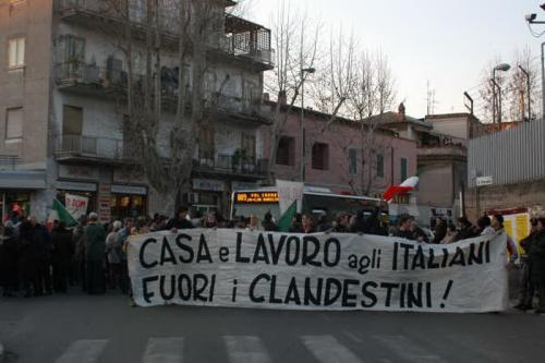 11 febbraio 2006 - Seconda manifestazione su via della Pisana - 2